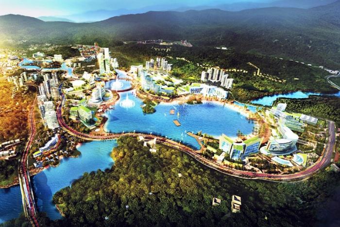 Khu phức hợp casino Vân Đồn có quy mô xây dựng trên tổng 2250,7ha chia làm 2 khu
